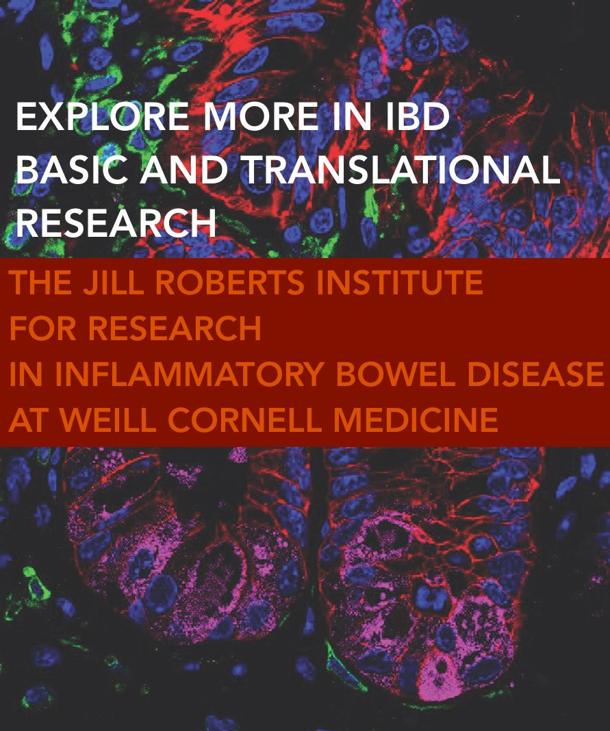 The Jill Roberts Institute for Research in Inflammatory Bowel Disease